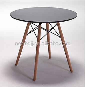 High quality modern black round mdf coffee table with wood for High quality coffee tables