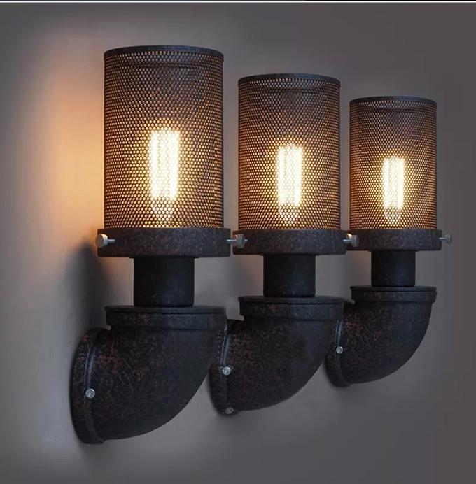 Industrial Loft Iron Edison Bulb Waterpipe Retro Cafe Restaurant ...