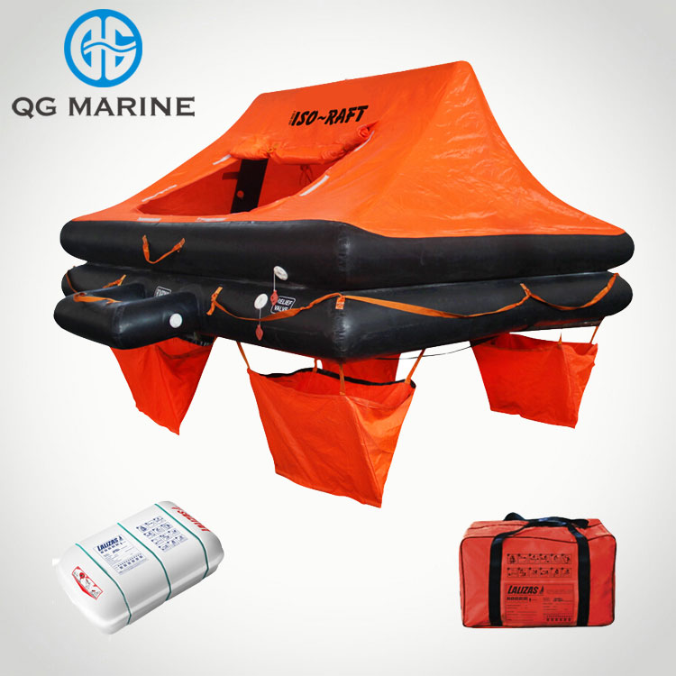 SOLAS Youlong Red&Black Rubber Inflatable Life Raft Approved