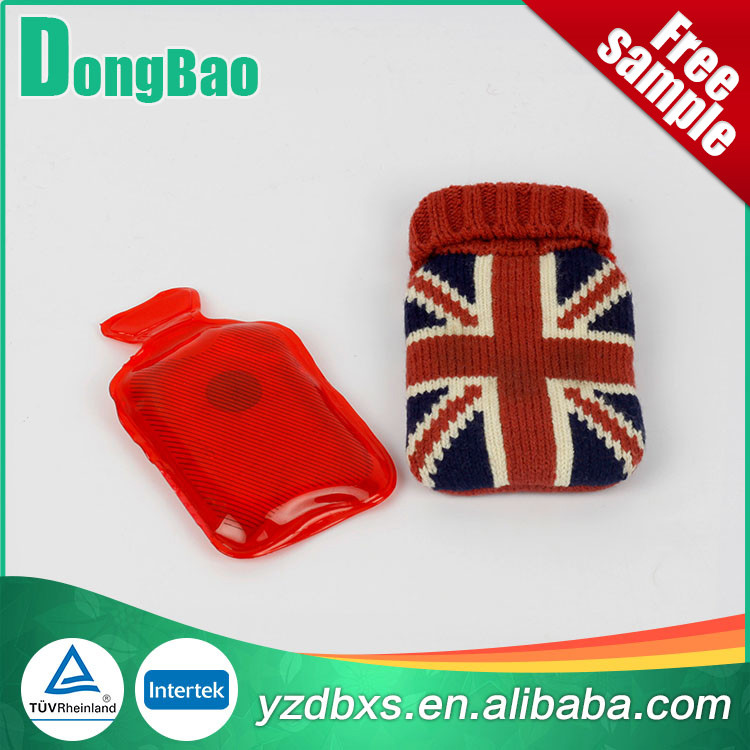 union jack knitted cover instant hot cold pack