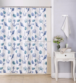 2018 New Hot Sell Customized fabric Shower Curtain Design