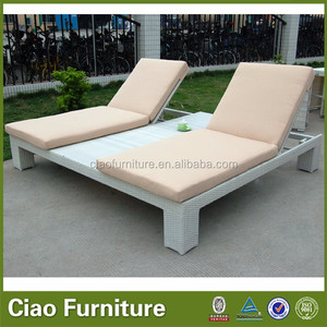 Hotel use king size double chaise lounge bed