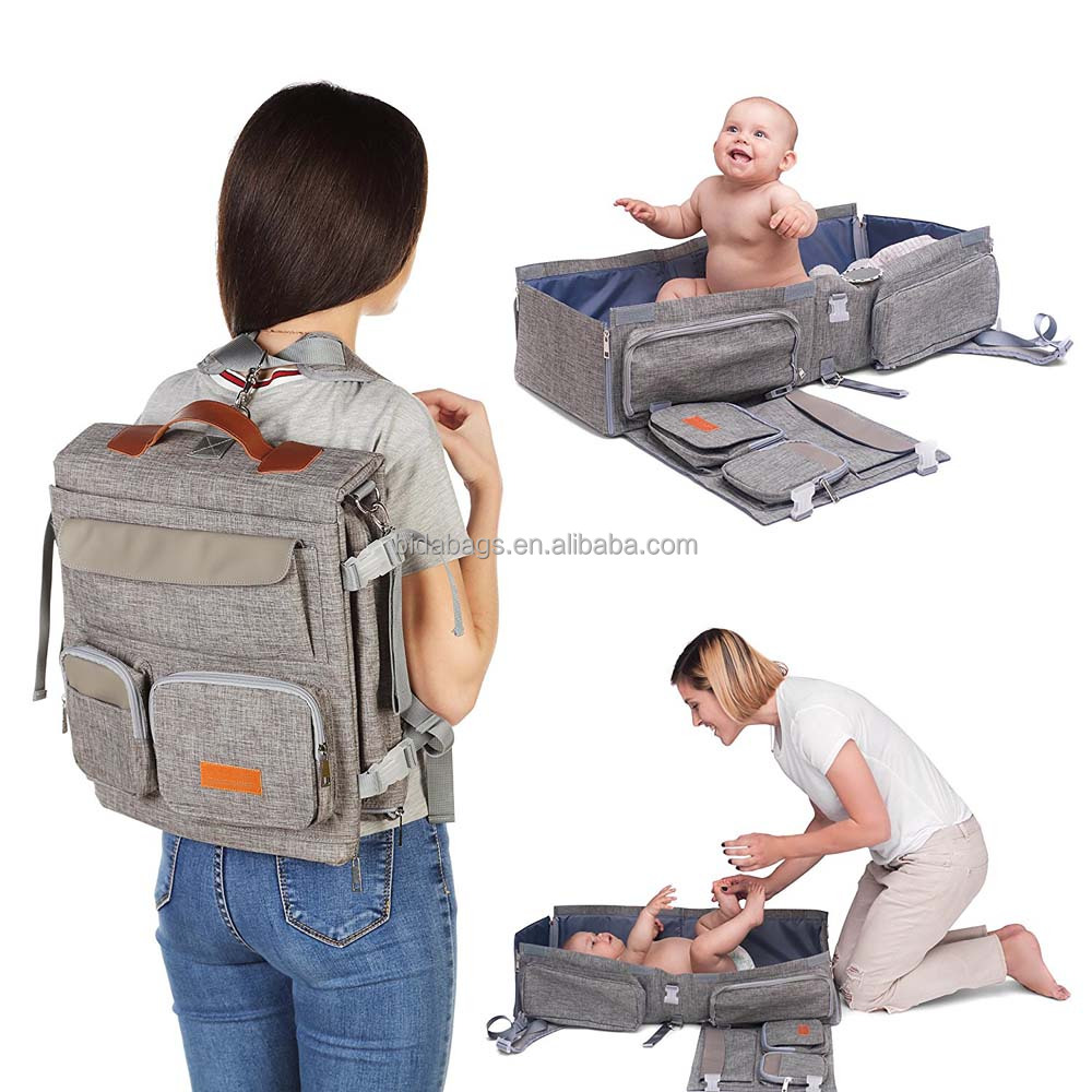 Travel Bassinet - 3 in 1 Diaper Bag Backpack - Portable Baby Travel Bed