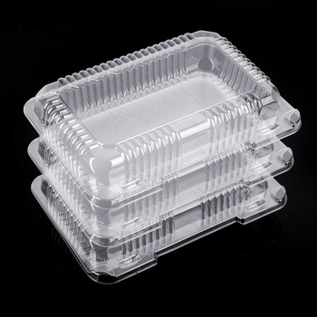 Custom Packaging Box Clear Plastic Clamshell Biodegradable Disposable Pet Food Container for Food