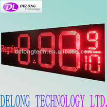 "CE and RoHS 20"" IP65 remote control red led gas price digital display"