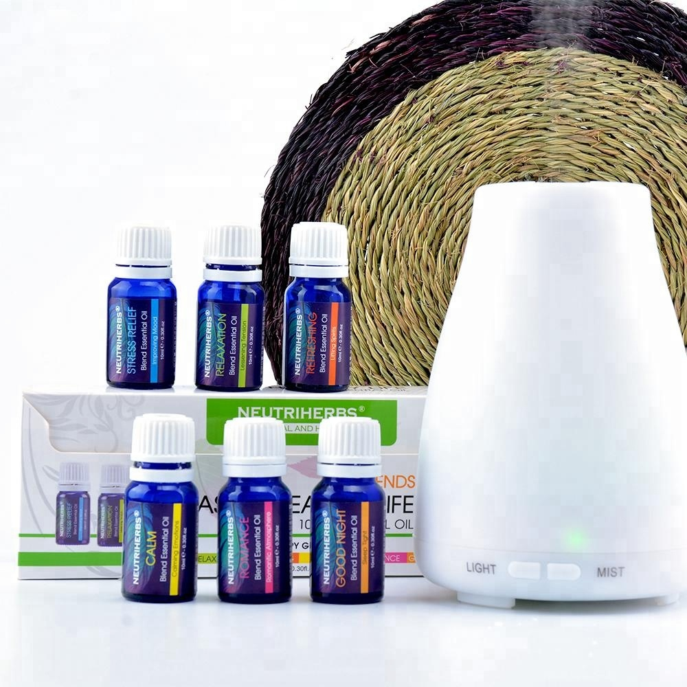 Natural 6 Pack Blend Essential Oil Diffuser Ultrasonic Essential Oil For Electronic Cigarettes Essential Oils Gift Set