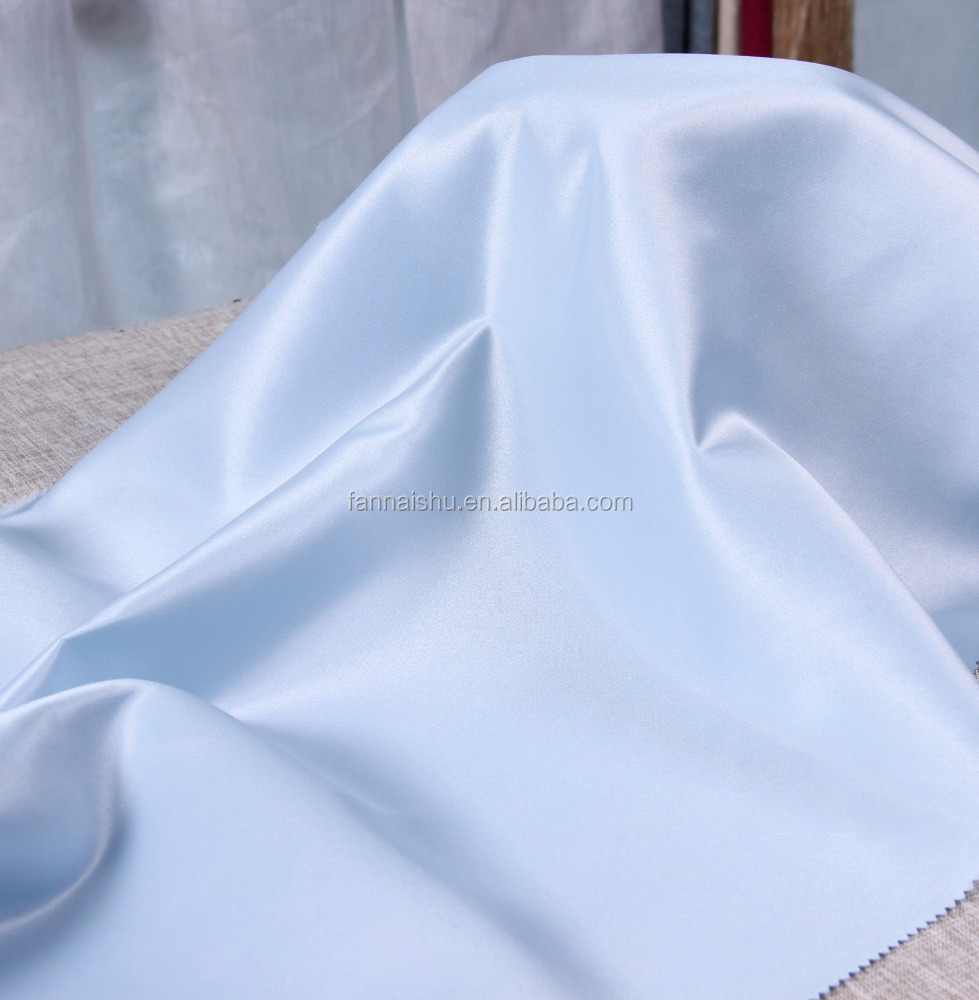 100% Polyester Material and quality grade 100D*100D cheap satin fabric In Stock Item Supply Satin