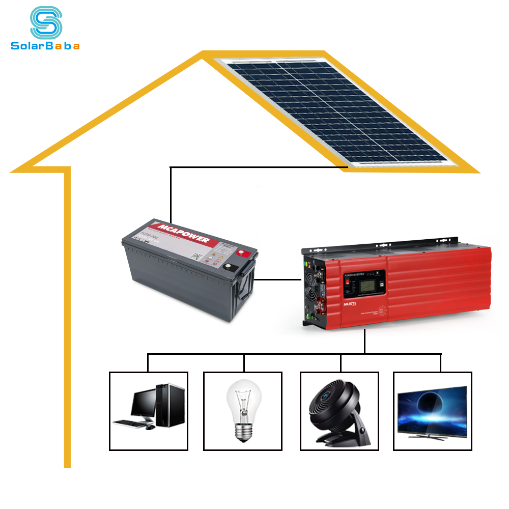 Whole House Mini Project Solar Lighting System 5kw 12v 110v Pure