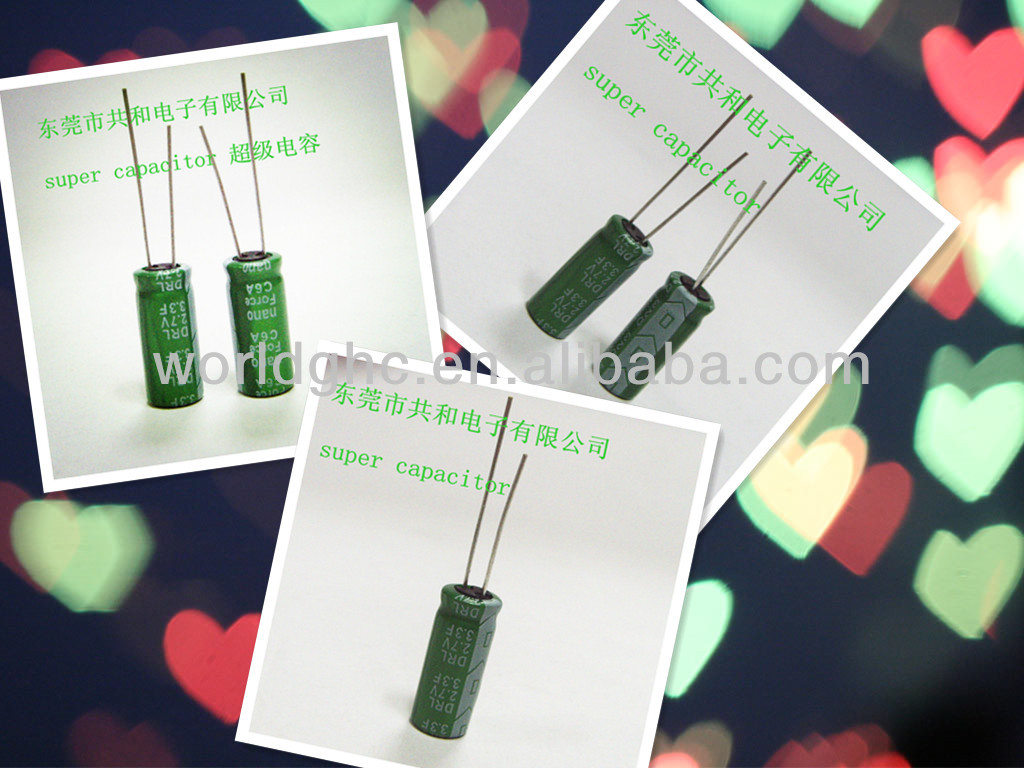 price list of capacitor 2.7v 3.3f for Meter,MPS,DVD,PLC