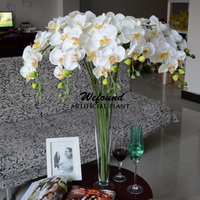 Colorful silks flowers orchid flower for artificial flower arrangements