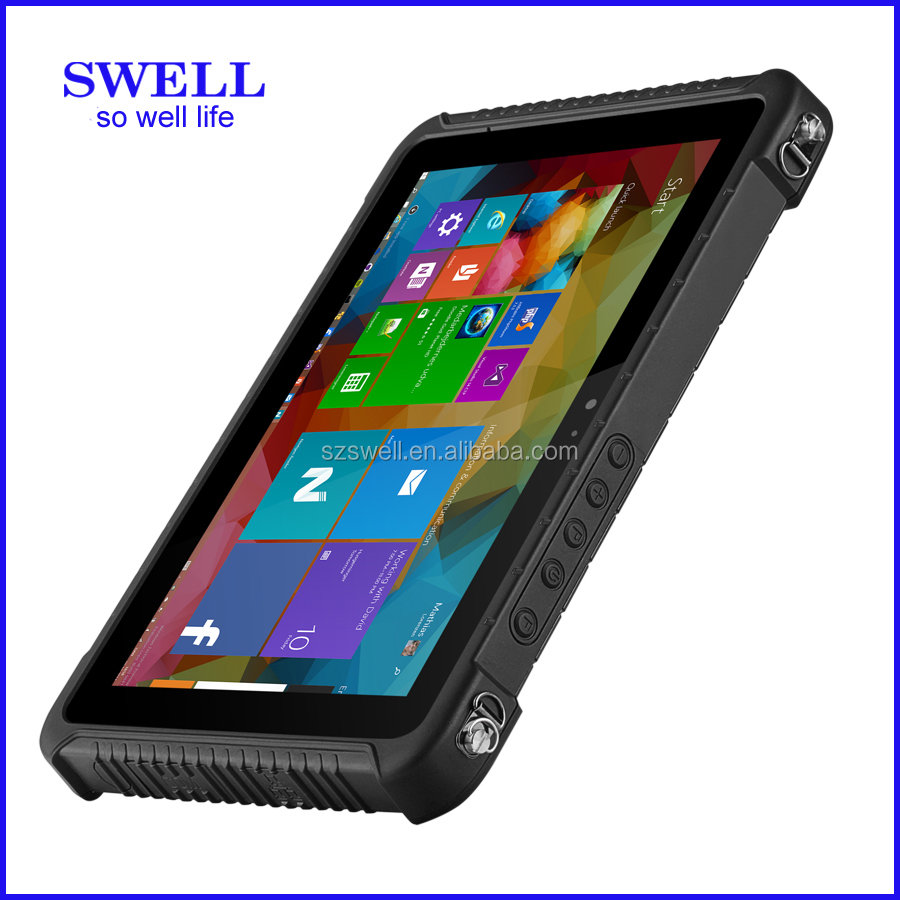 Model I80H Gorilla Glass Tough Tablet with RS232, optional win 10 or android tablet with rfid reader