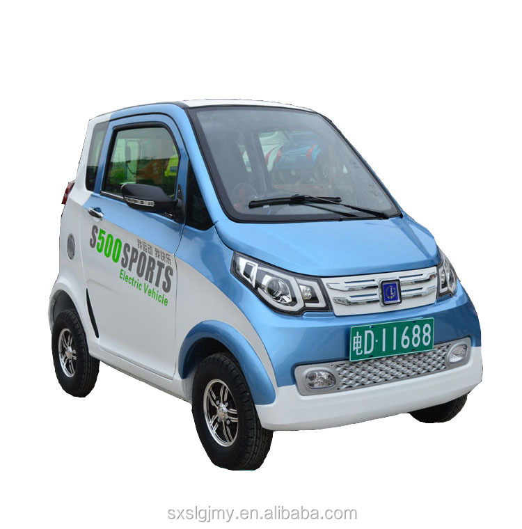 Cheap Mini EV Quadricycle Neighborhood Car Low Speed Electric Vehicle with 4 wheels for handicapped