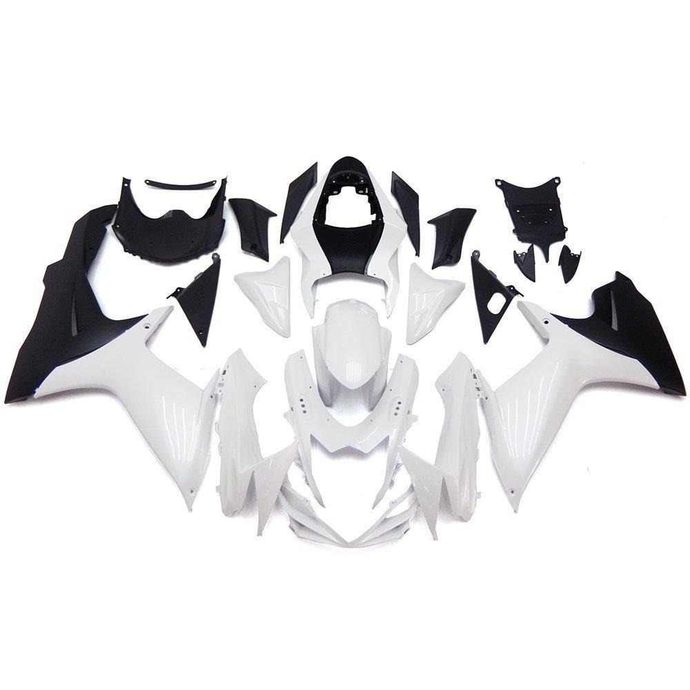 Sportfairings Injection Body Kits ABS Plastics Fairings White Pearl Black Matte Motorcycle Full Fairing Kits For Suzuki GXSR600 GSXR750 K11 Year 2011 2012 2013 2014 2015