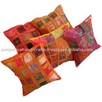 Indian Sari Patchwork Cushion Cover Wholesale Stock Lot Cushion