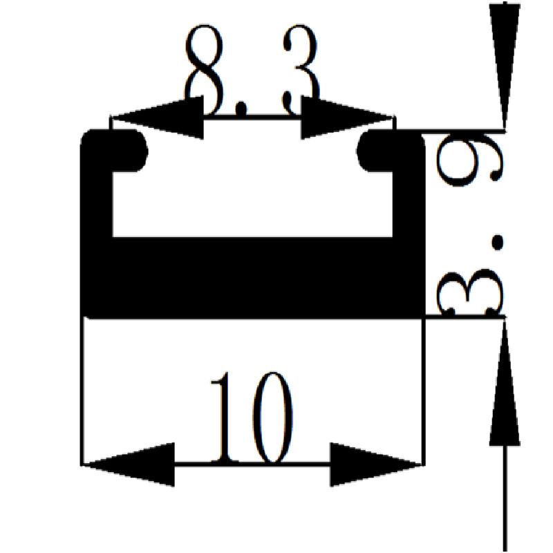 Good heat dissipation Process of titanium plating on 8mm aluminium profile for led strip.