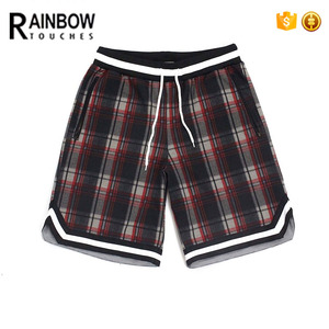 Cotton fabric Plaid Track Shorts for men