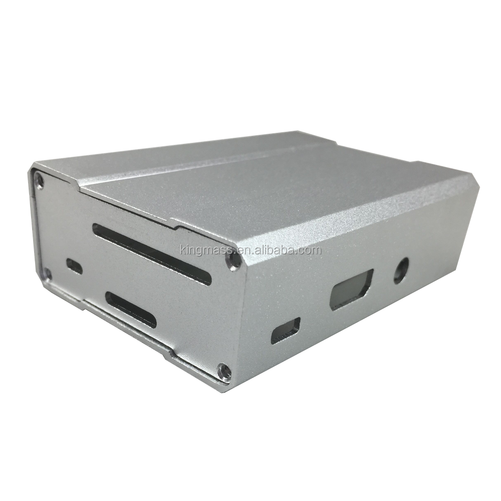 Raspberry Pi 3 Aluminum Case Black Case Silver Metal Enclosure for RPI 3 Model B Compatible with Raspberry Pi 2