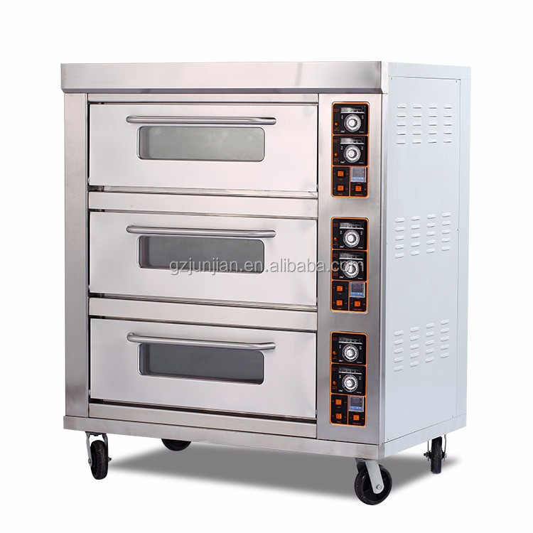 Restaurant Equipment Commercial 3-Layer 9-Tray Used Pizza Oven Price