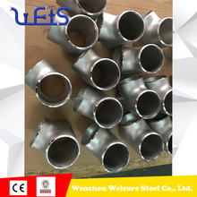 ASTM B16.9 stainless steel sch 160 equal tee