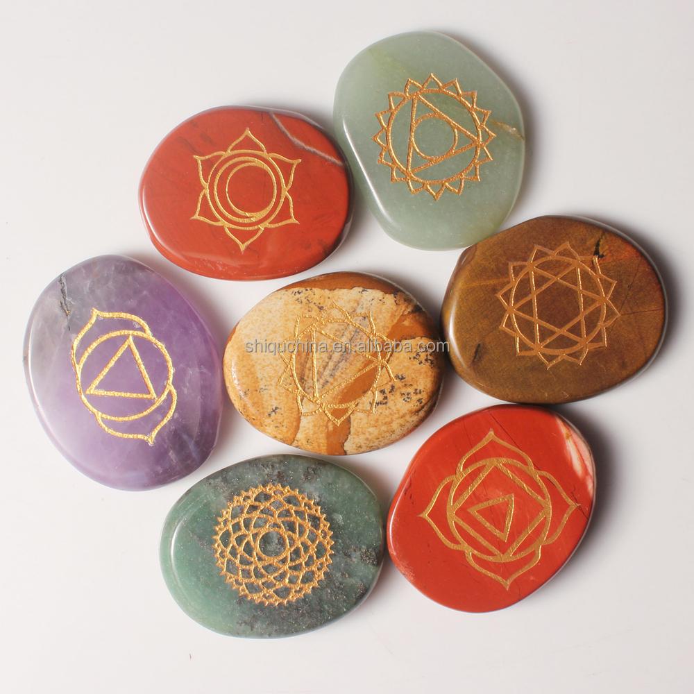 Wholesale chakra stones set with reiki symbol buy chakra stones wholesale chakra stones set with reiki symbol buycottarizona Images