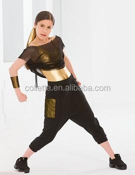 981b7212c79f mbq391 oro nero della ragazza moderna occidentale hip hop costumi di danza  jazz