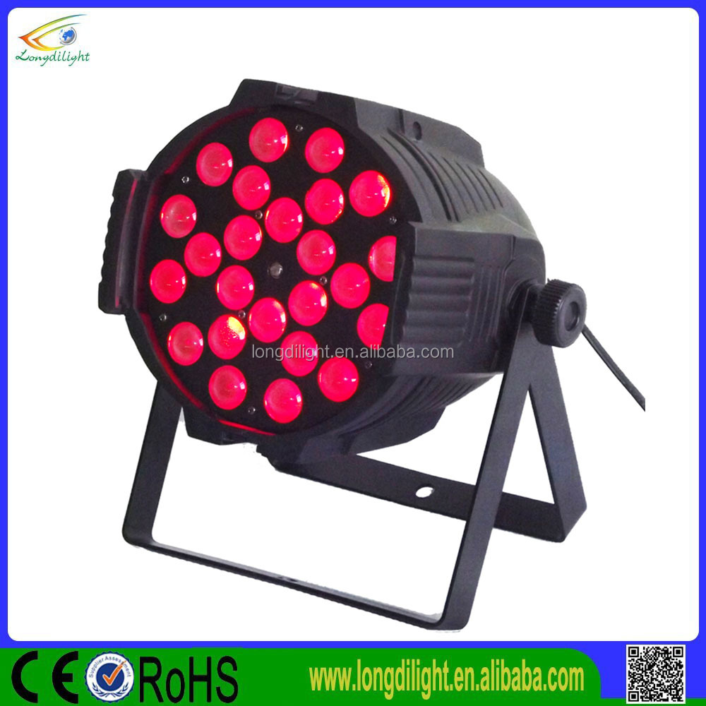 Professional Zoom Par 24pcs 18W 6IN1 RGBWAUV LED Stage Light