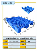 LYCW1210 Platic pallet made in China sale in low price for drink and electron