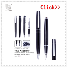 2019 Metal Writing Fountain Pen With Customized Logo For Gift