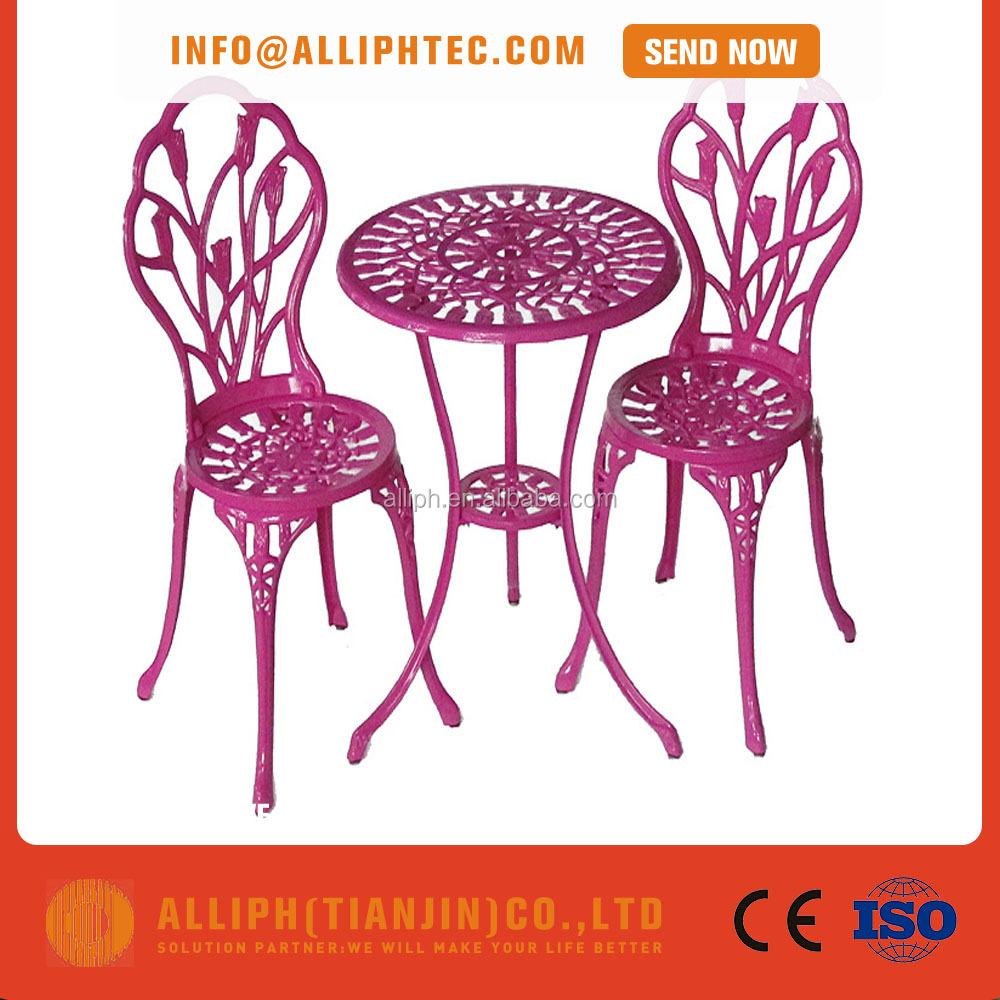 Metal barato muebles de jardín muebles de exterior de aluminio ...