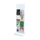 Metal Acrylic Floor Brochure Holder Magazine Stand Display Use For Bank