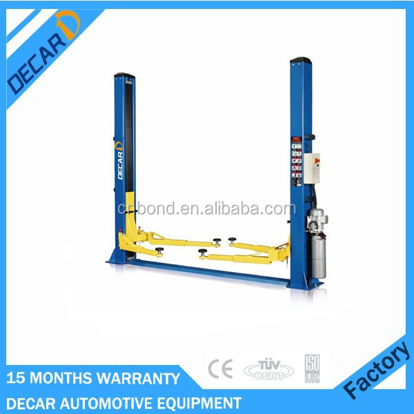 hydraulic operation 2 post outdoor car lift with CE