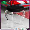 Custom Round Shape Stool Seat Acrylic Bar Stool Plexiglass Swivel Stool