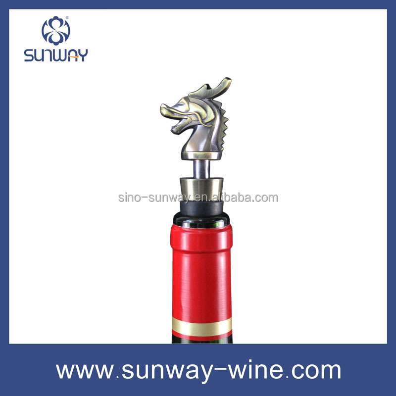 Metal stopper with copper plating silicone wine stopper animals wine stopper parts