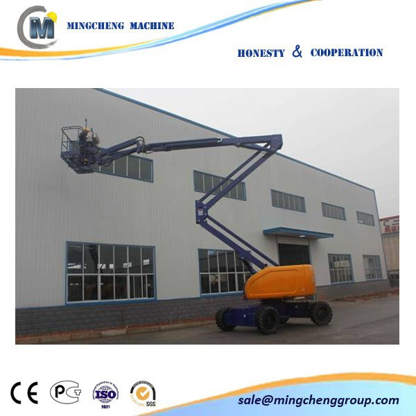 Supply 10% off --- self-propelled CE approved articulating boom lift GTZZ15