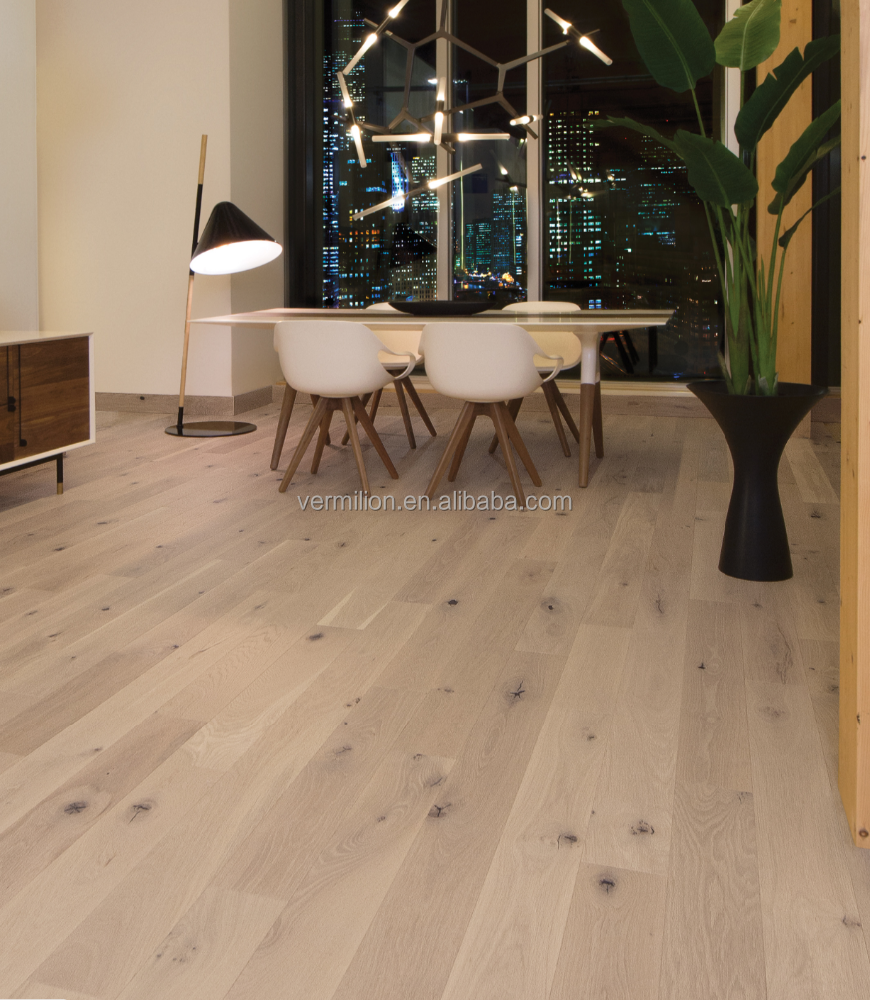 White Oak White Mist Heavy Composite Wood Indoor Parquet Flooring