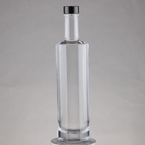 Kendo super flint good grade metal screw cap glass vodka bottle for sale