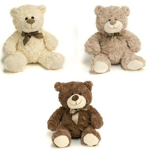 plush brown bear with Ribbon /plush bear toy/bear animal plus toy
