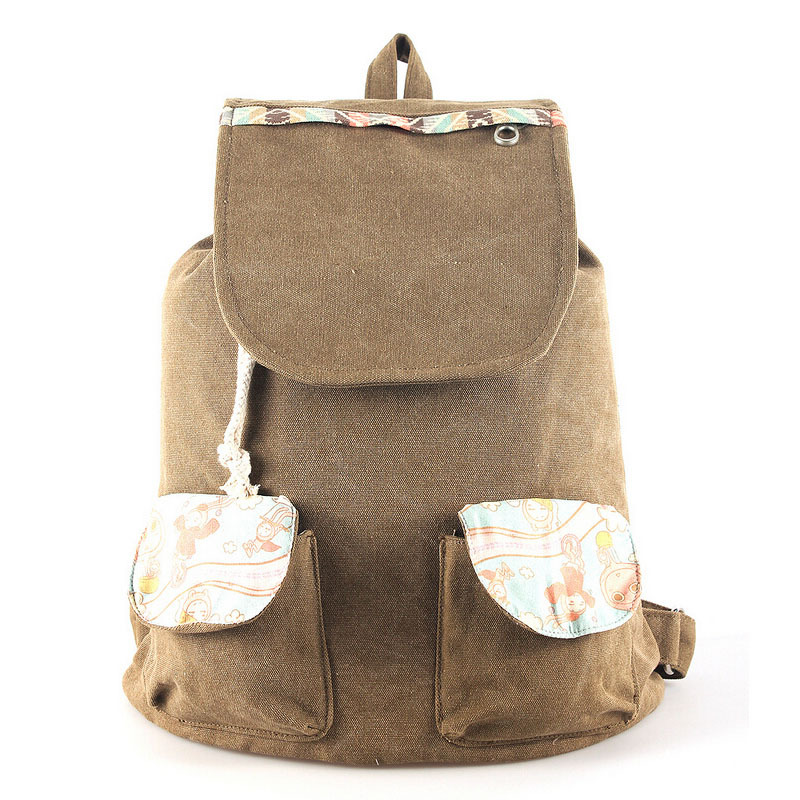 2015 Girls fashion canvas backpack for travel outdoor, women's casual travel rucksack & backpack, female shoulder bag