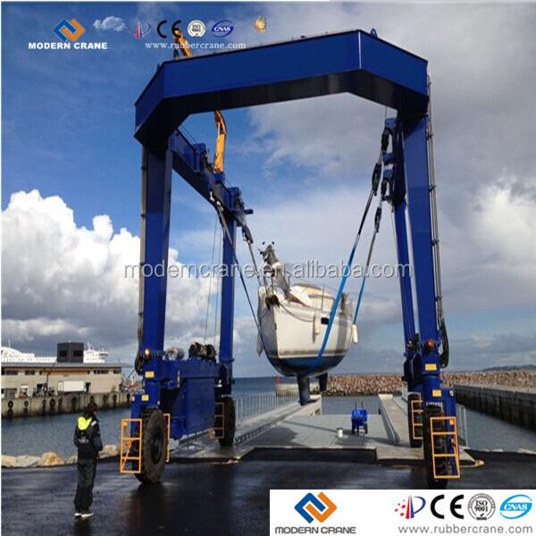 Yacht Hydraulic Crane : Electric hydraulic gantry boat hoist lift crane buy