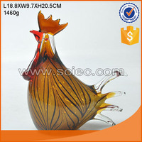 high quality beautiful hen shape glass home decoration wholesale