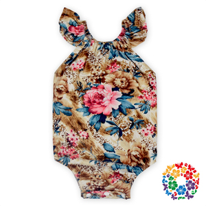 Hot Sale Floral Infant Bubble Romper,baby romper organic cotton,wholesale angel clothes