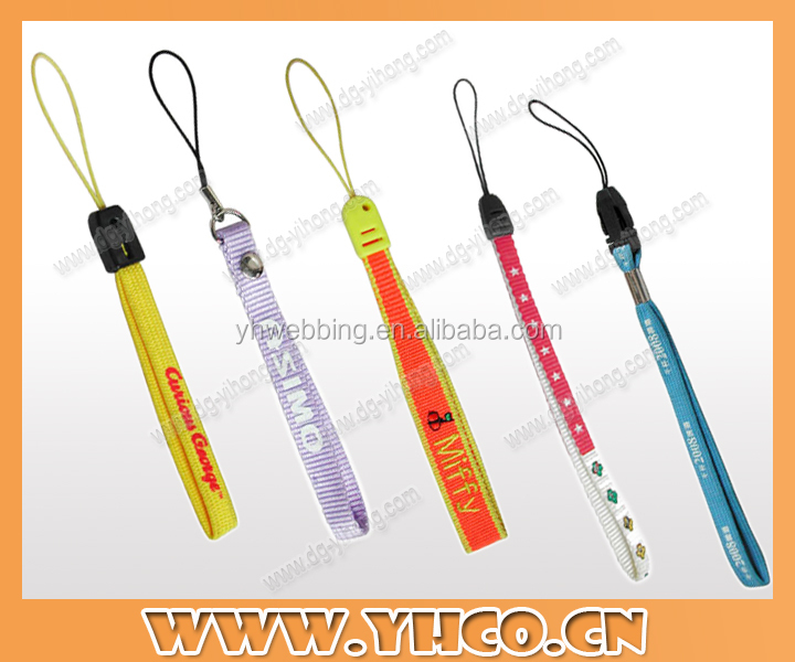 cheap single custom design short lanyard with string for phone cases