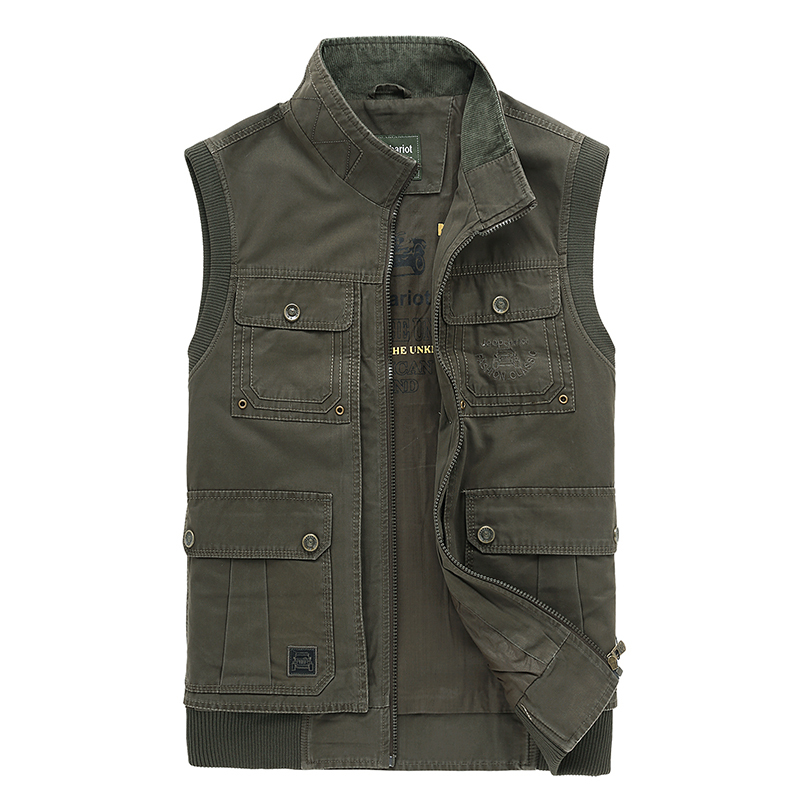 Men's Gilet Hunting Vest with many multi pockets men chaleco caza Sport photography camping coletes masculinos army vest Gilet