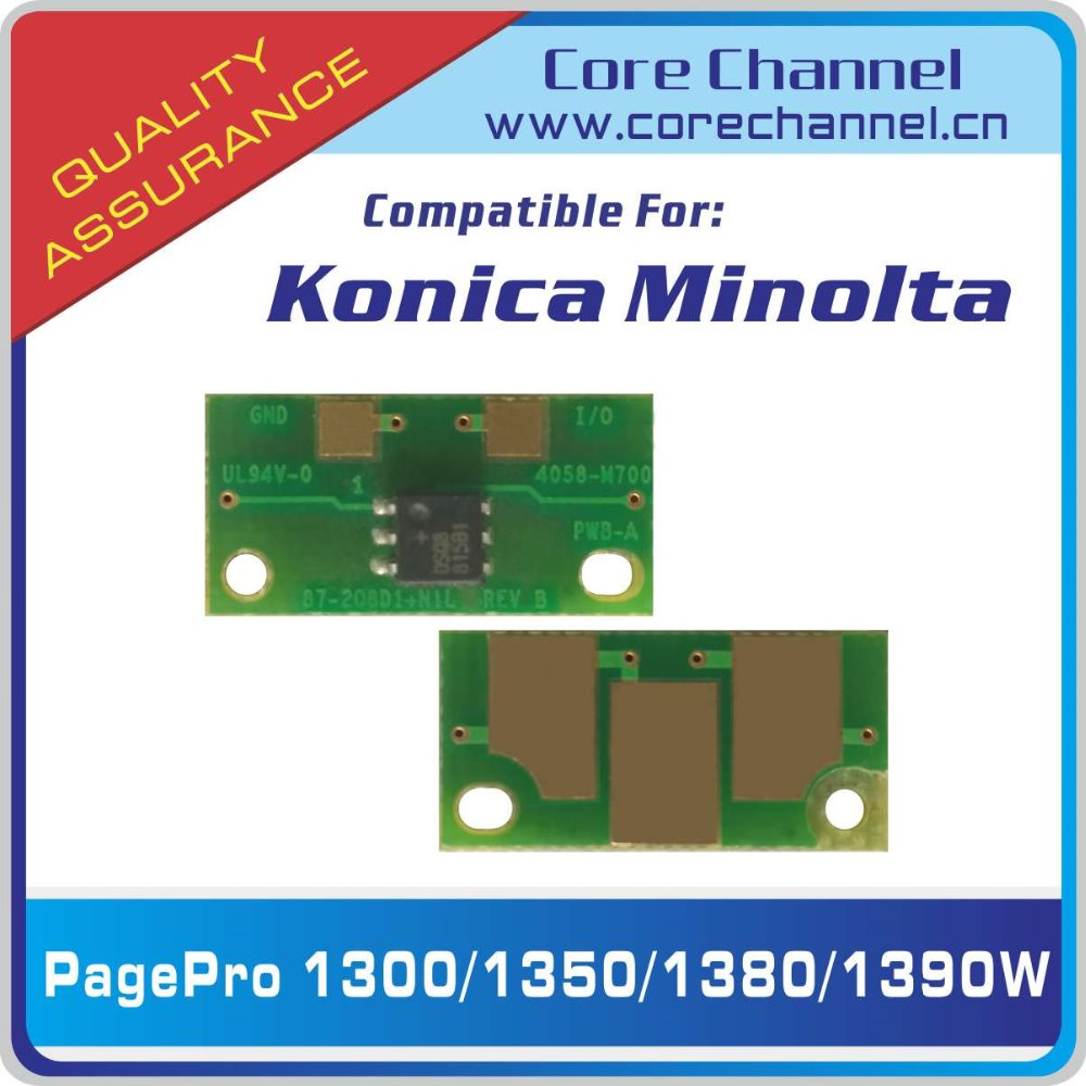 Konica Minolta PagePro 1300 1350 1380 1390W Reset Toner Cartridge Chip KM 1300 1350 1380 1390