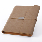 Loose-leaf custom emboss logo pu leather notebook