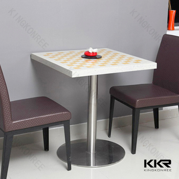 Small Restaurant Tables Black Solid Surface Table Tops
