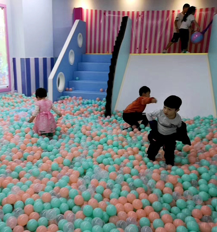 Eco-friendly macaron color soft plastic water pool ocean wave ball baby funny toys stress air ball
