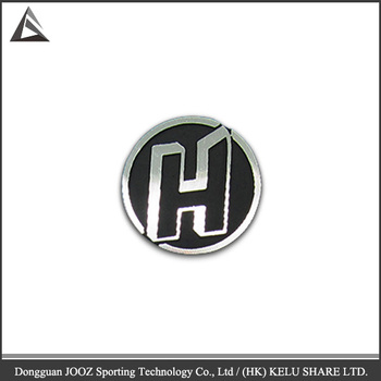 custom 3d circle metal logo sticker letter h buy metal sticker