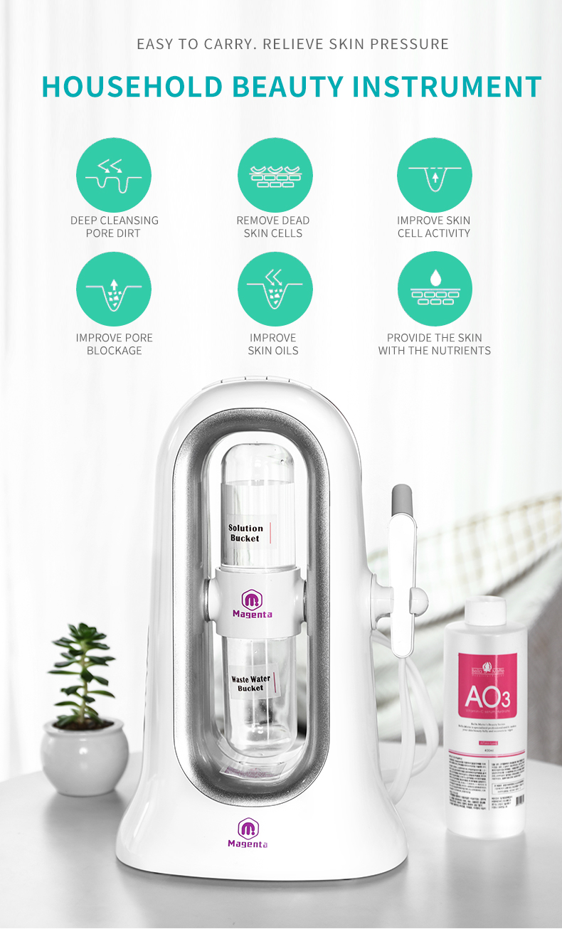 Home use skin beauty equipment machine portable 3 in 1multi function Oxygen facial machine