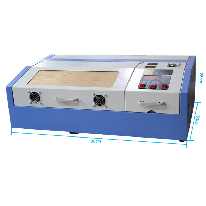 Desktop Mini 40w Co2 Rubber Stamp Wood Acrylic Paper Laser